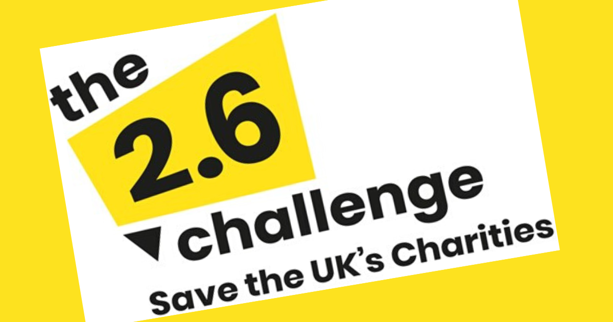The 2.6 Challenge: Save our Charities