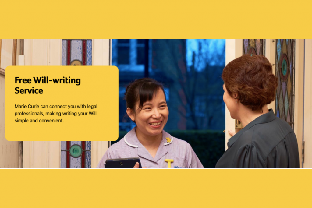 Marie Curie Free Wills Service