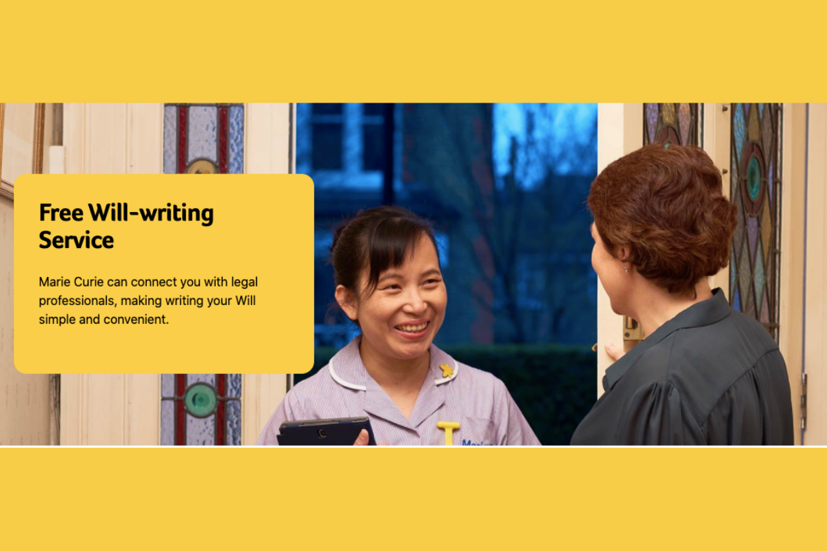 Marie Curie Free Wills Scheme Extended…